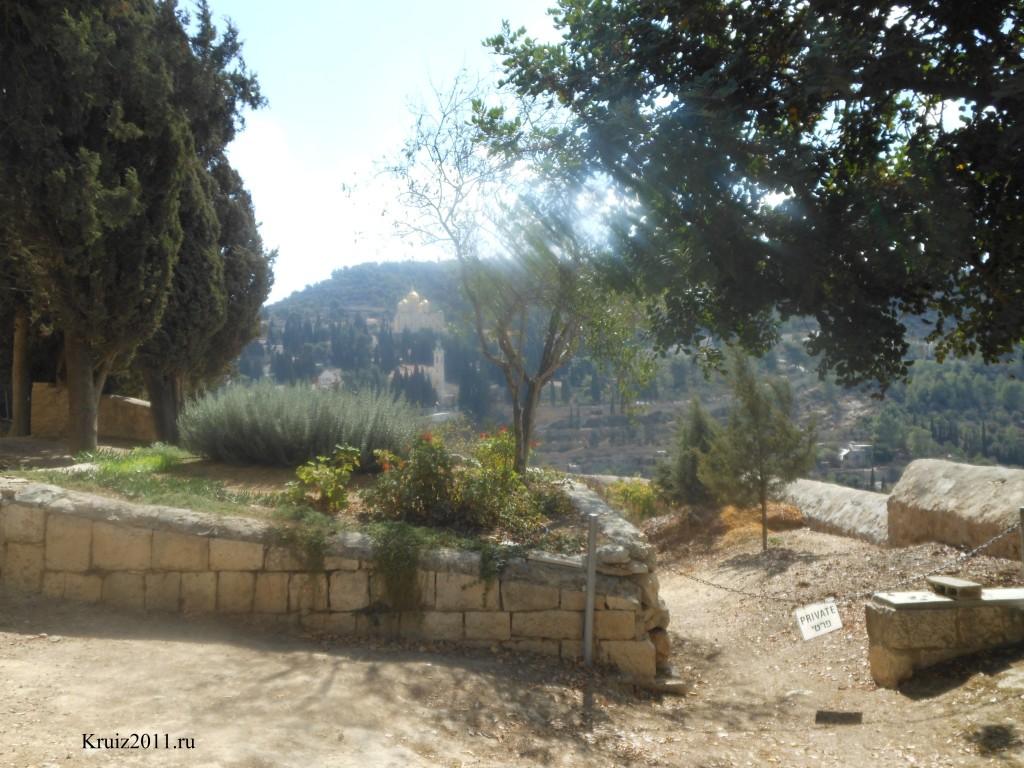 Иерусалим. Вид на холмы из Монастыря Сестер Сиона