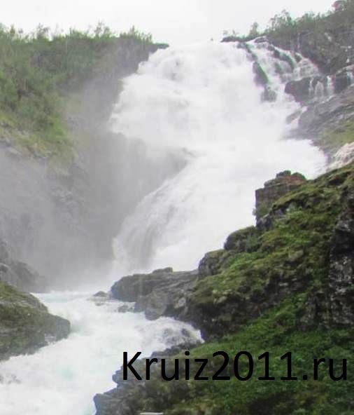 Норвегия, Флом, водопад Кьусфоссен