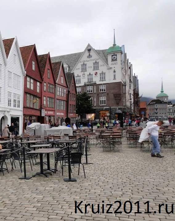 Норвегия. Берген. Рыбный рынок.