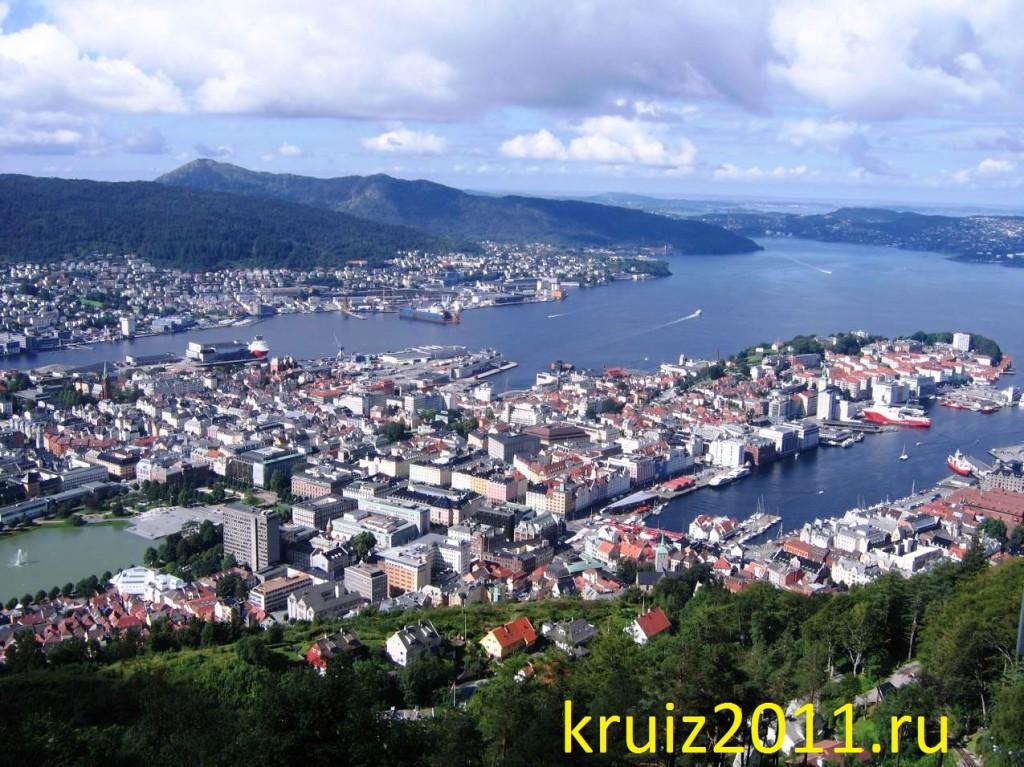 Норвегия, панорама Бергена